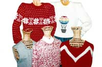 Sandees Kwik Knits Set In Sleeve Bulky Sweater Pattern Books for Machine Knitting Sandee Cherry