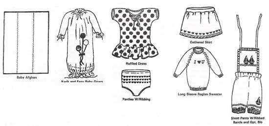 Baby Garments Pattern Books for Machine Knitting