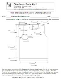 Designing 101 Set-In Sleeve Charting Worksheet Front & Back
